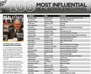100 Most Influential Real Estate Executives in America 2014