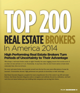 Top 200 Real Estate Brokers in America 2014